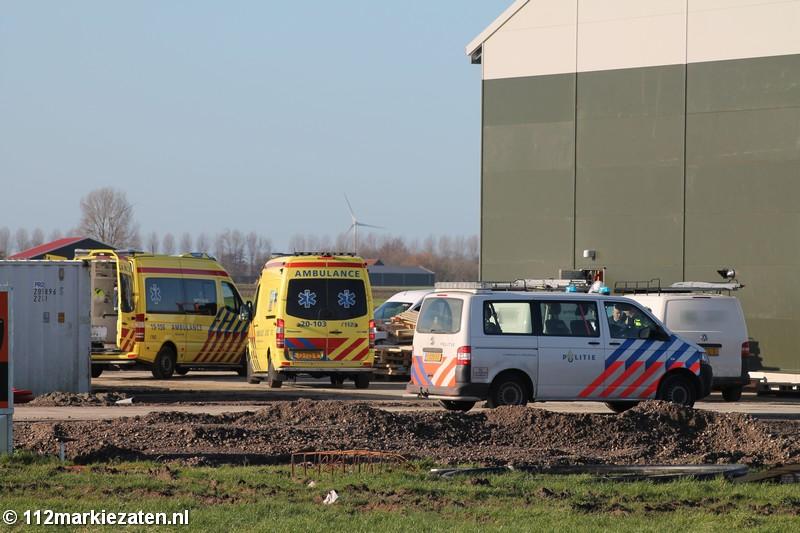 Bedrijfsongeval aan de Bitterhoekseweg in Poortvliet