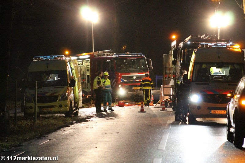 Drie gewonden bij bizar ongeval op de N289 bij Putte