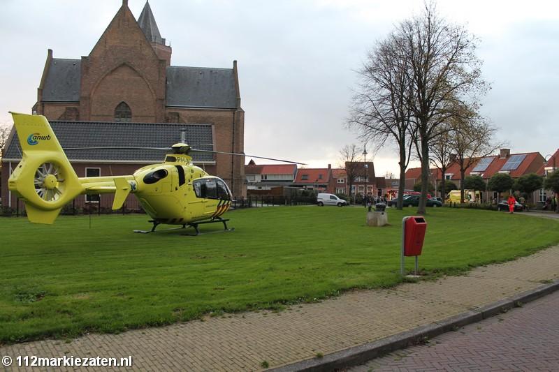 Traumahelikopter voor gewonde in Poortvliet
