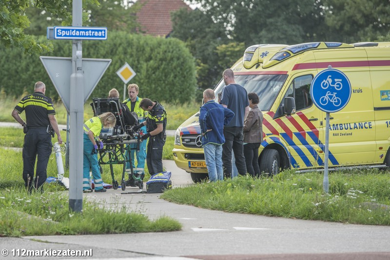 Scooterrijder gewond na val bij Scherpenisse, trauma gealarmeerd