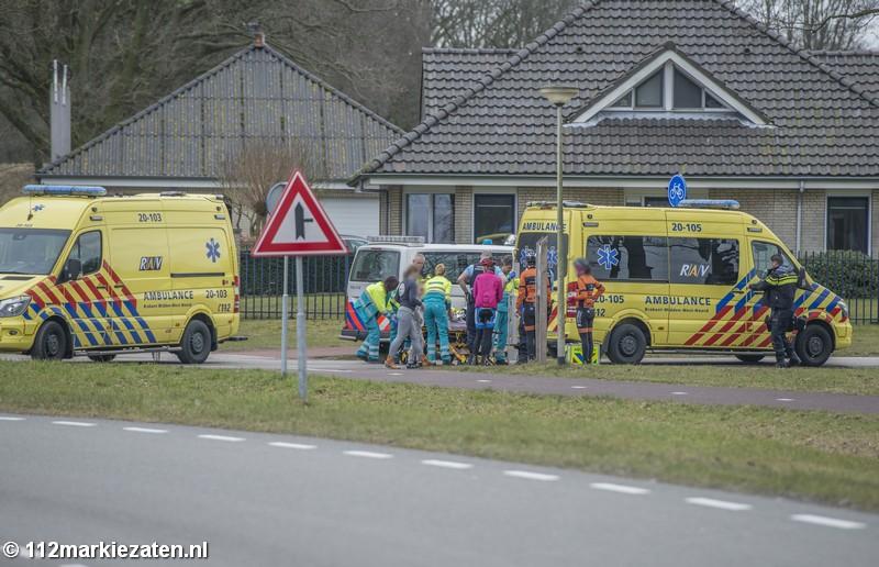Traumahelikopter rukt uit voor gevallen wielrenster in Halsteren