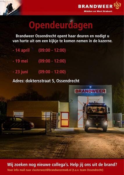 Brandweer Ossendrecht organiseert evenementen en zoekt vrijwilligers