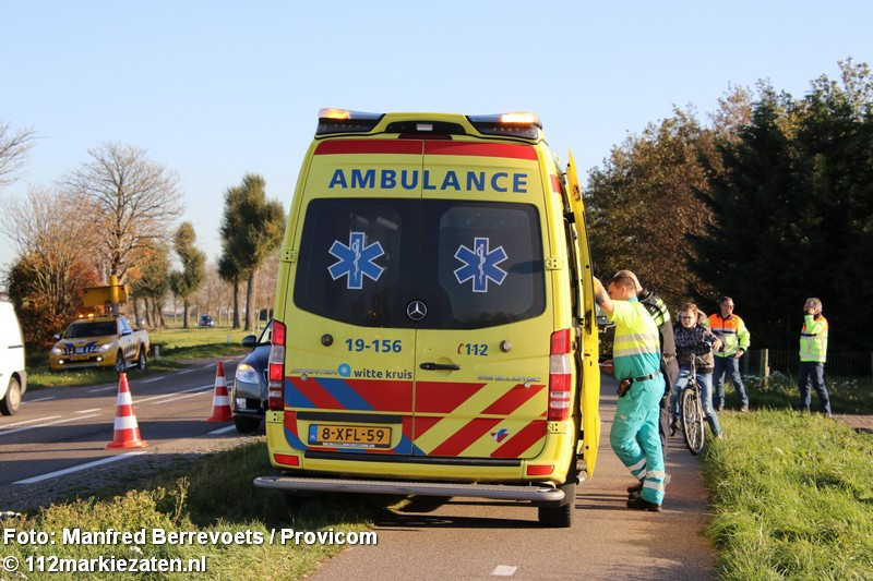 Aanrijding tussen vrachtwagen en personenauto bij Poortvliet