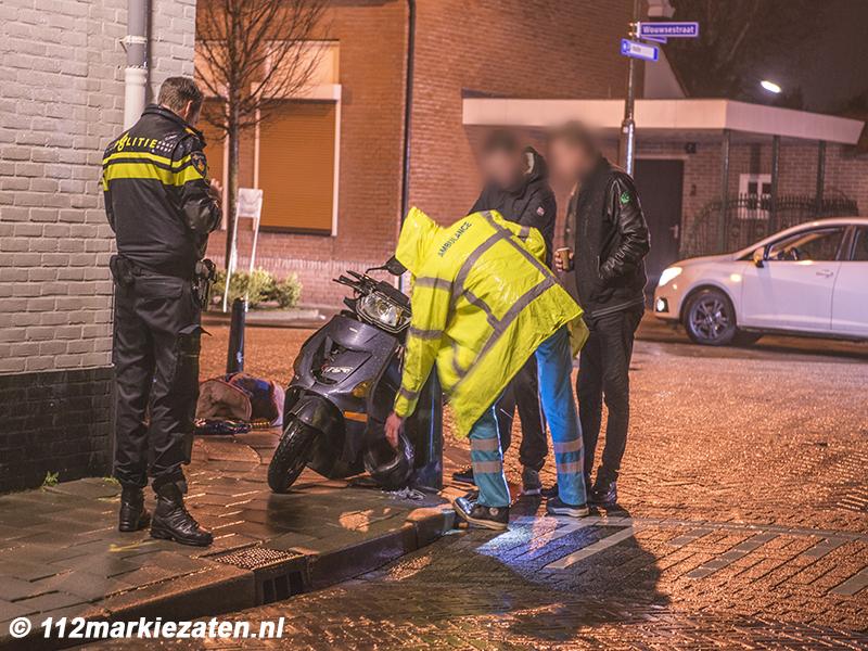Scooter onderuit in Steenbergen, 1 gewonde