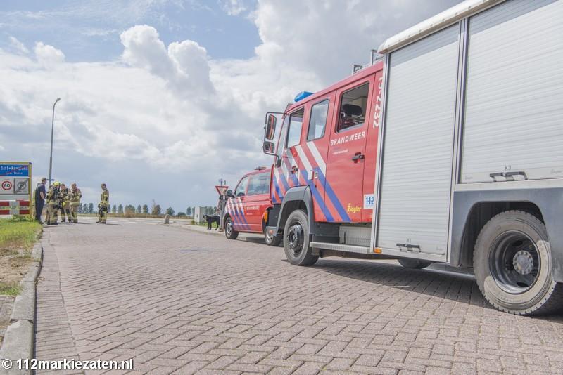 Gasleiding lek aan Stoofweg in Sint-Annaland