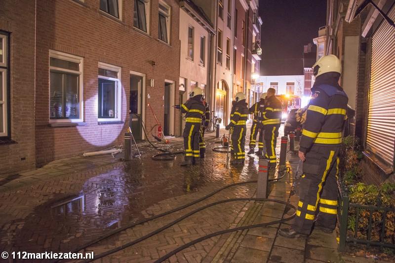 Hond overleden bij woningbrand in Steenbergen