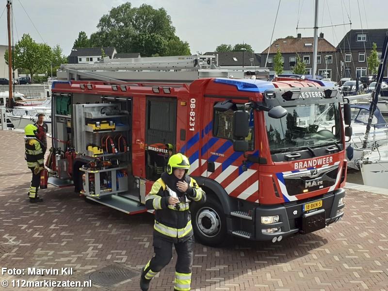 Brand in drugspand tijdens brandweerwedstrijden in Steenbergen