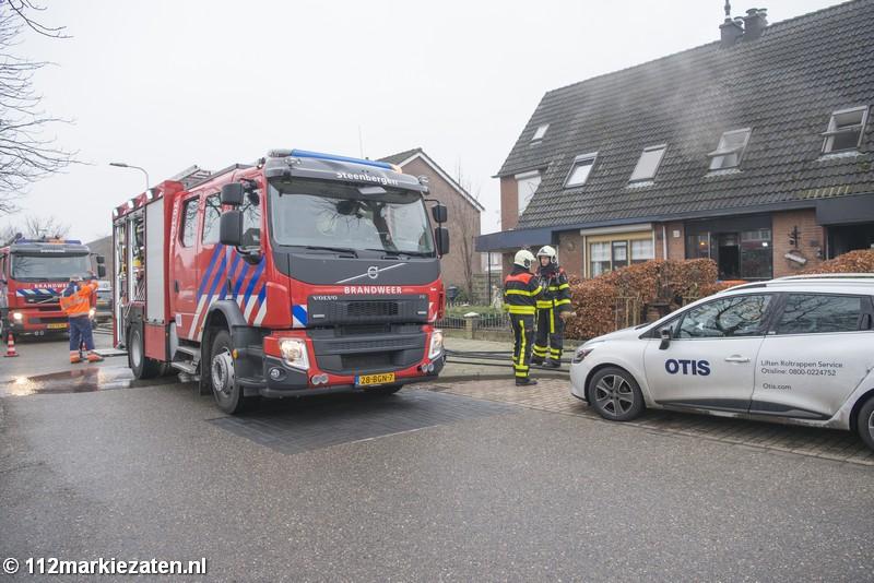 Persoon gewond bij woningbrand in Steenbergen