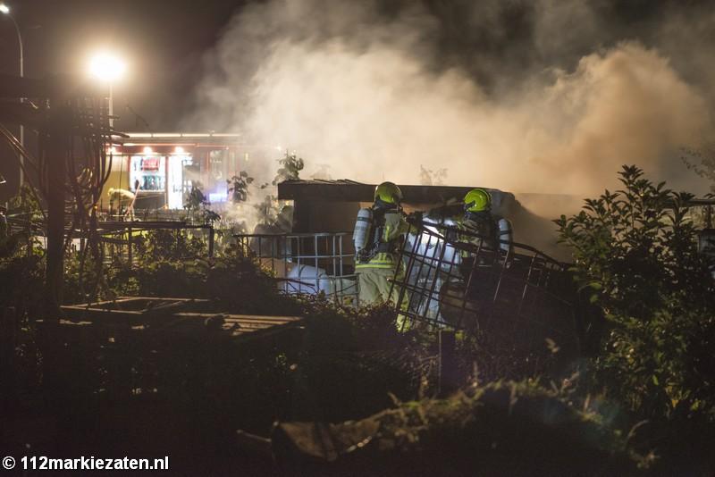 Opnieuw brand in volkstuinen Tholen, schuurtje uitgebrand