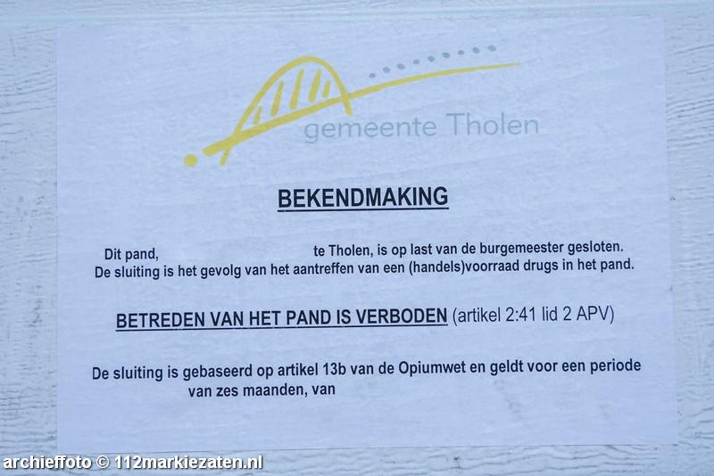 Woning in Tholen voor drie maanden gesloten wegens aantreffen harddrugs