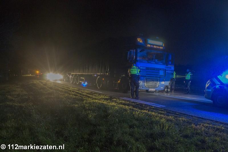 Melding van ongeval met vrachtwagen bij Tholen, chauffeur was dronken