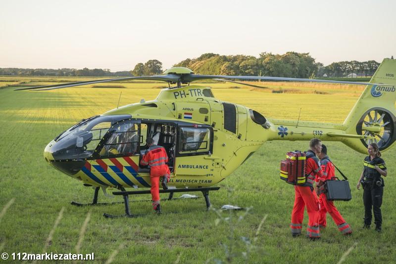 Persoon valt van paard bij Halsteren, traumahelikopter opgeroepen