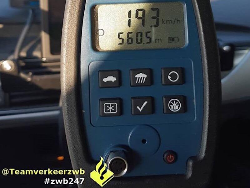 Bestuurder rijdt 57 km/u te hard op A4 bij Ossendrecht