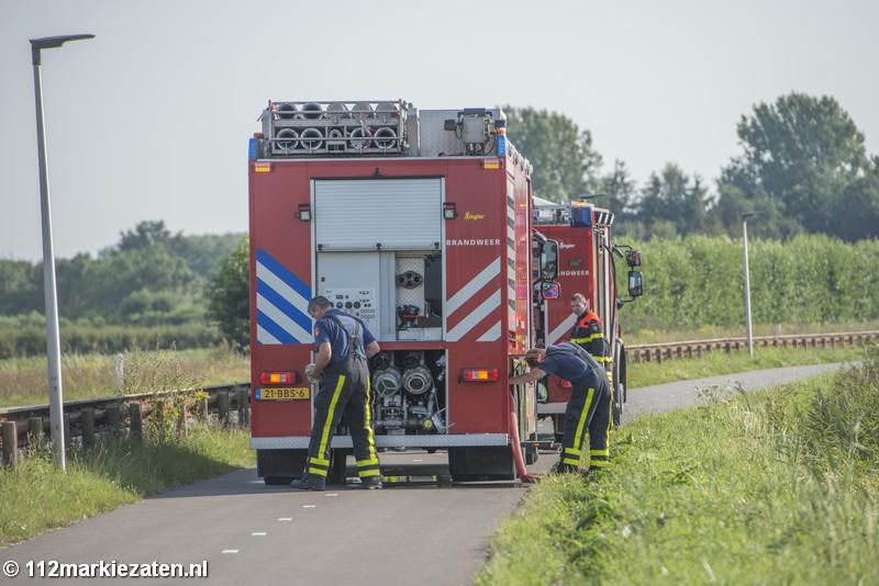 Voor de zoveelste keer brand in volkstuinencomplex Steenbergen