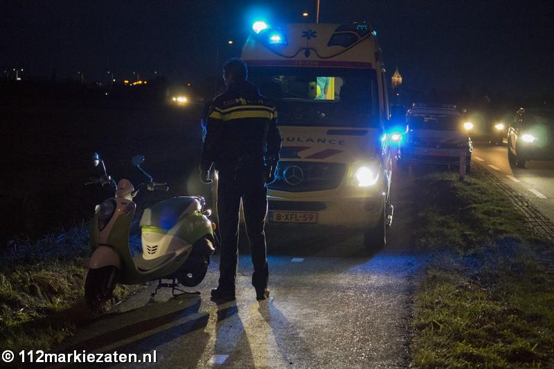 Scooter onderuit bij eenzijdig ongeval op Postweg bij Poortvliet