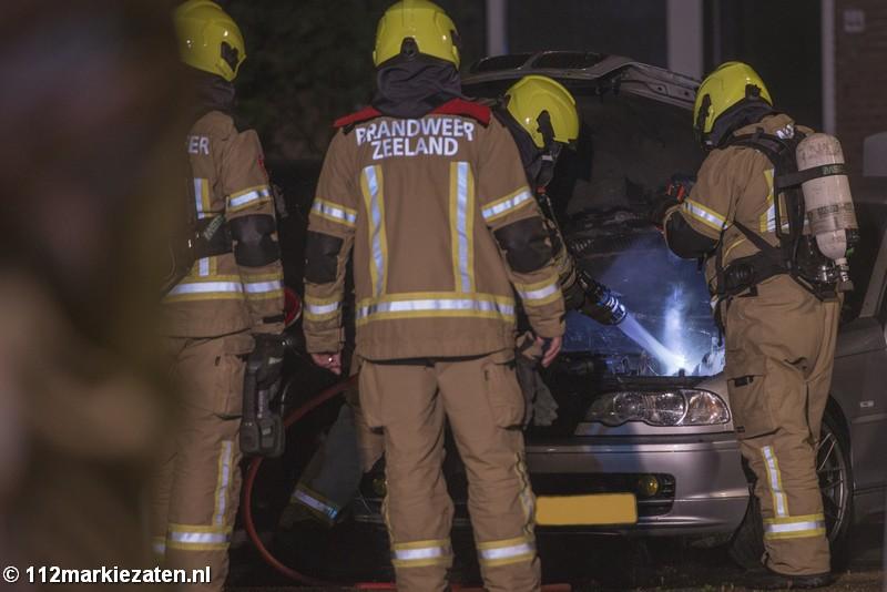Auto flink beschadigd bij autobrand in Tholen