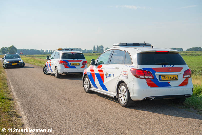 Aanrijding tussen wielrenner en auto bij Dinteloord, één gewonde
