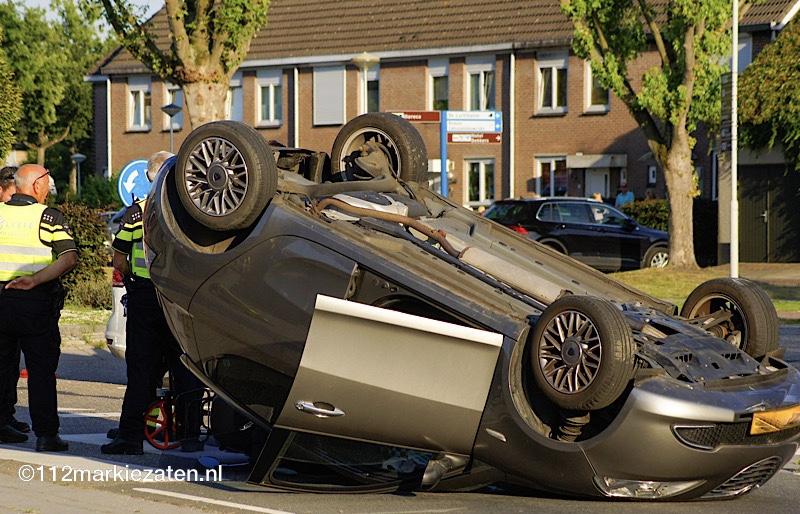 Ernstig verkeersongeval bij Hoogerheide, traumahelikopter opgeroepen