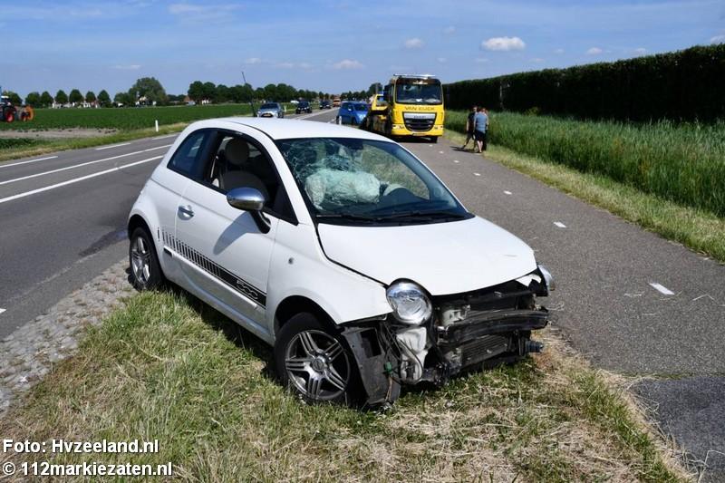Flinke schade bij botsing na botsing op  N286 Poortvliet