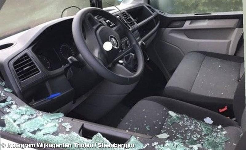Inbraak en poging tot inbraak in bedrijfsauto's Sint-Annaland