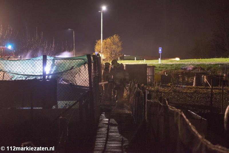 Opnieuw brand in volkstuinencomplex Tholen, politie vermoed brandstichting