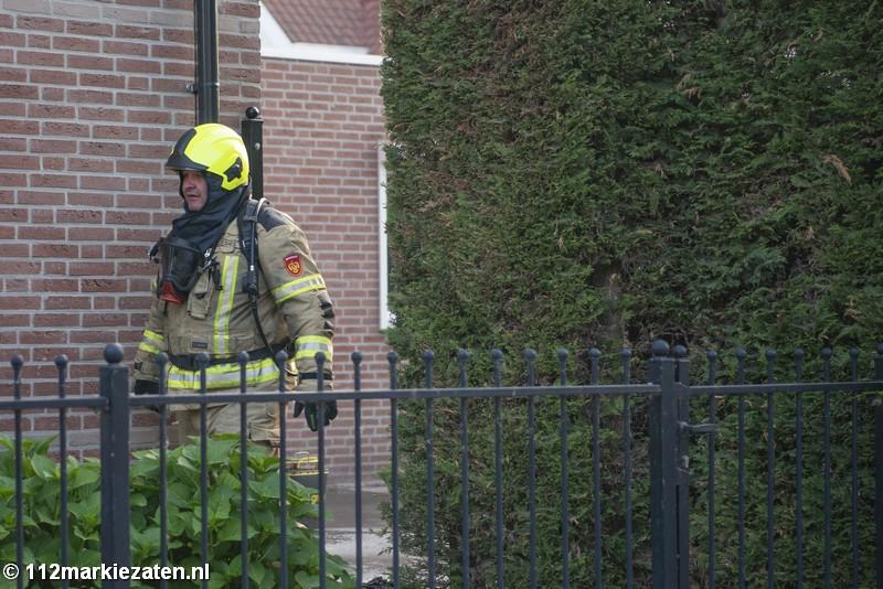 Thoolse brandweer rukt uit voor melding van woningbrand