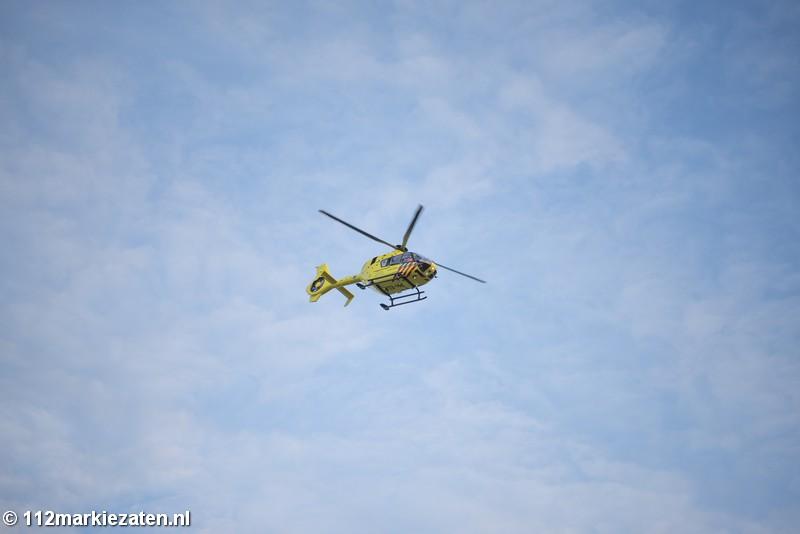 Traumahelikopter landt in Halsteren en Bergen op Zoom vanwege incident Tholen