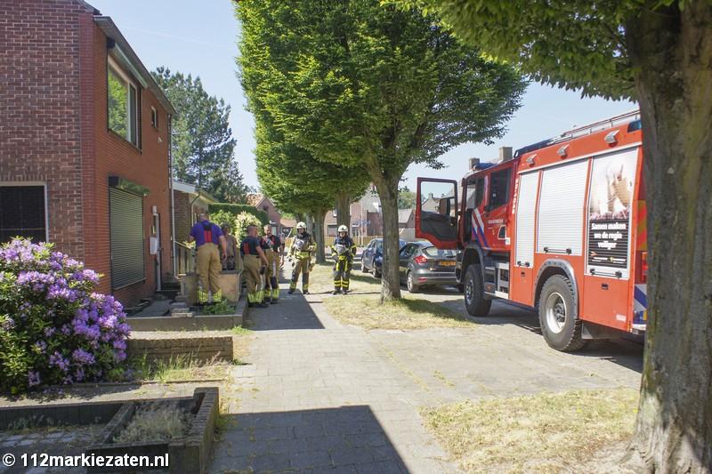 Brandweer verleent assistentie bij gaslekkage aan de Minckelersweg