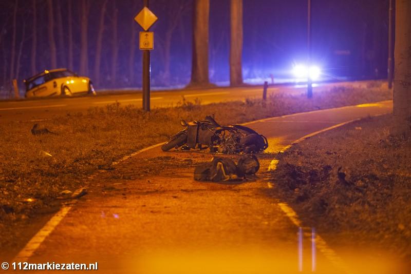 Ernstig ongeval tussen scooter en auto bij Ossendrecht, traumateam ingezet