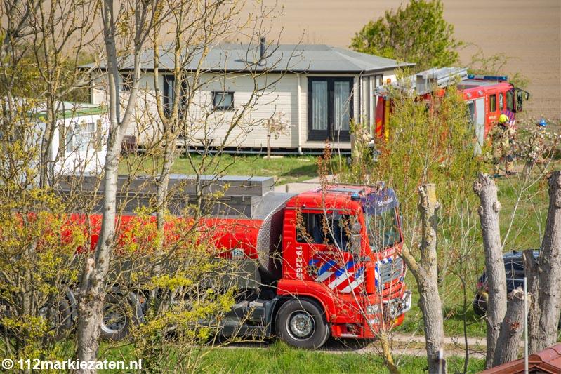 Rookontwikkeling bij brand op vakantiepark De Striene nabij Poortvliet