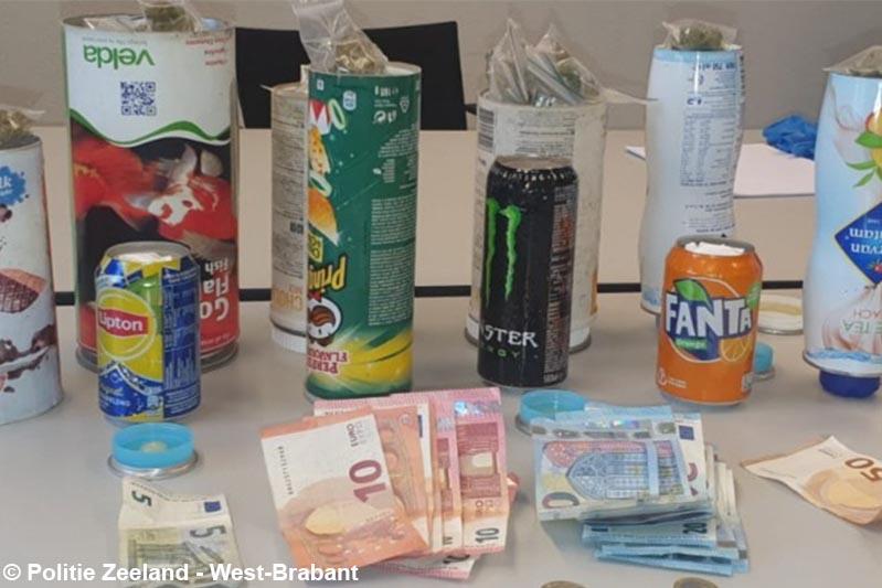 Drugsdealer met hennep en cocaïne in boodschappentas aangehouden in Roosendaal