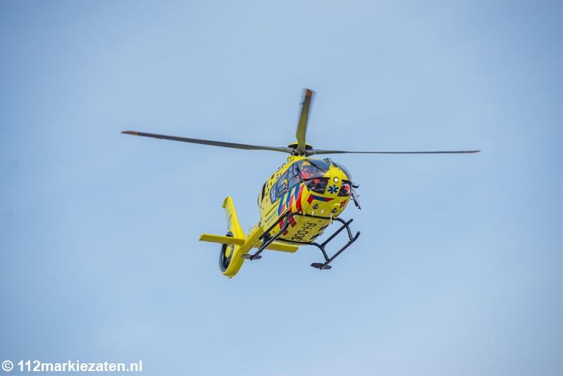 Traumahelikopter ingezet voor incident met schaatser in Steenbergen