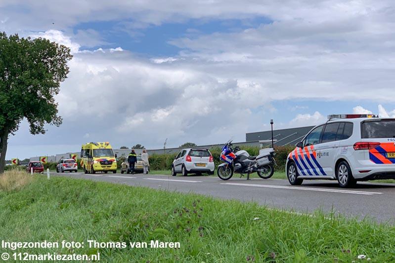 Auto van de Oud Vossemeersedijk, geen gewonden