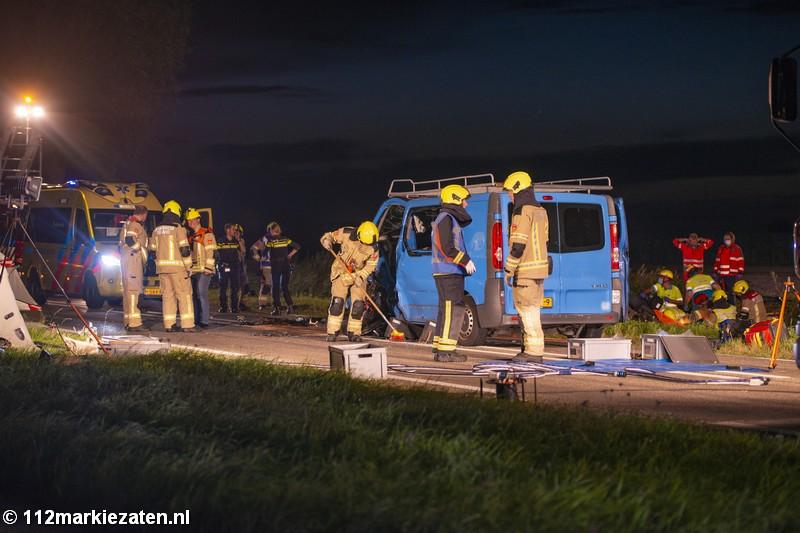 Zeer ernstig ongeval op de Postweg bij Tholen, meerdere gewonden