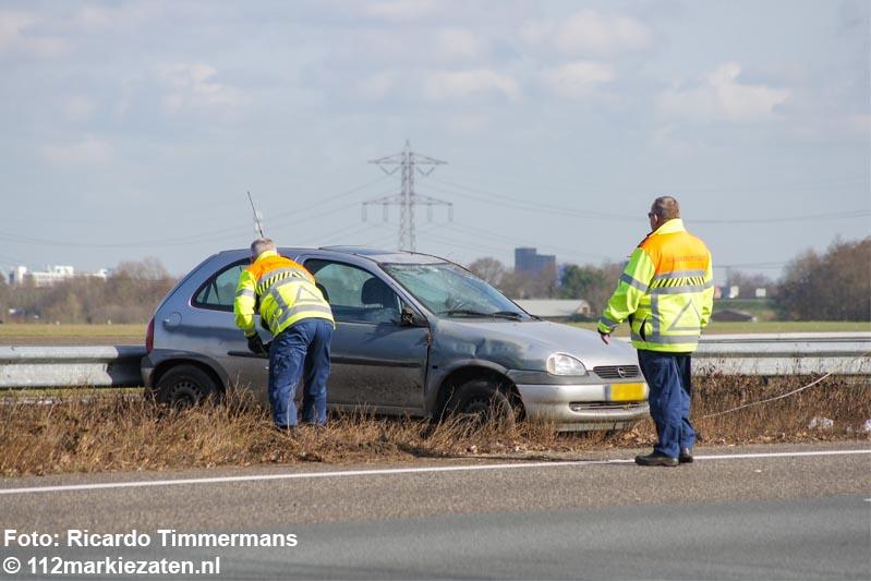 Vertraging op A58 tussen Bergen op Zoom en Roosendaal na ongeval
